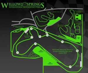 Willow Springs Intl Motorsports Park Map